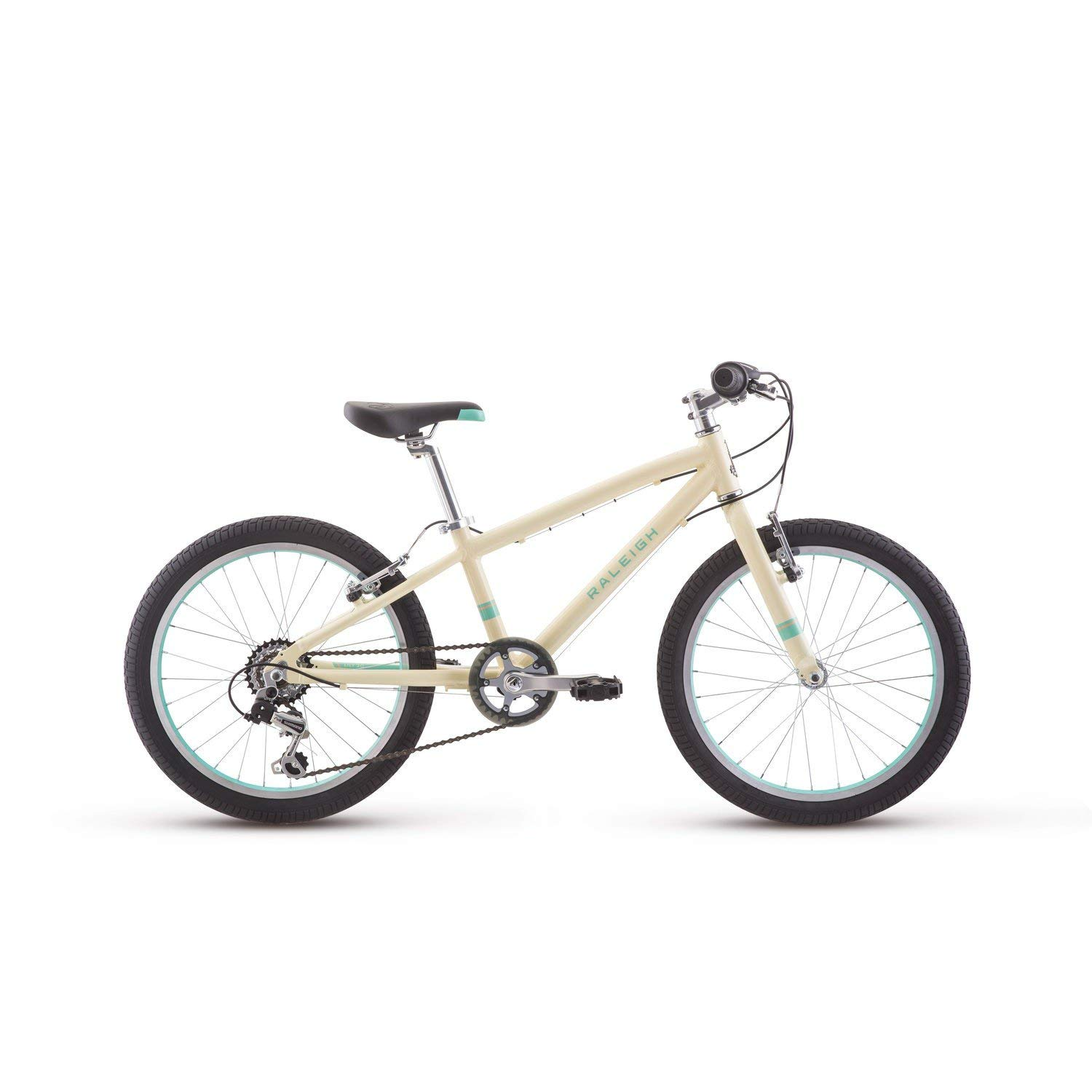 RALEIGH Bikes Lily 20 Kids Mountain Bike for Girls Youth 4-9 Years Old, White