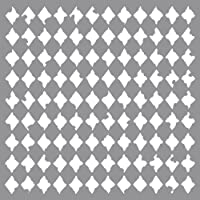Rayher 38905000 Reusable Stencil with Harlequin Design, Stencil Mask for Craft and Home décor Projects