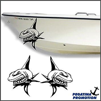 2 x böser Hai Haifisch Aufkleber aus Hochleistungsfolie - viele ...