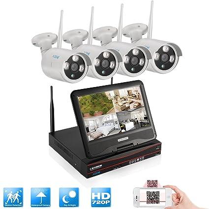 Smart CCTV sistema, acehe sistema de cámara de seguridad inalámbrica 720P Wifi NVR con 4 Wireless ...