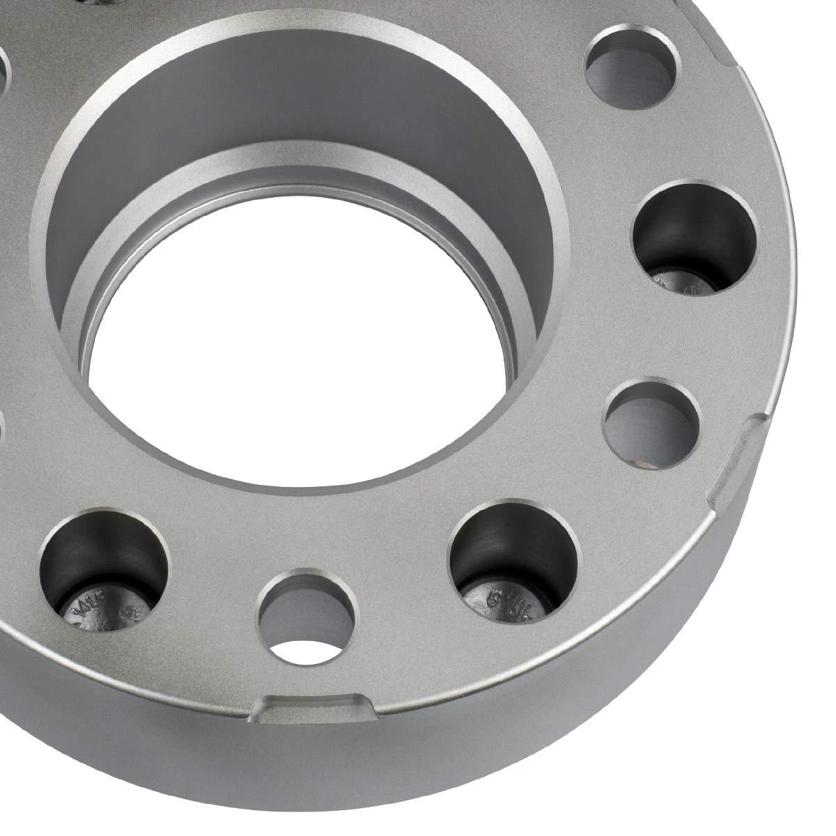 6x139.7mm 4pc 1999-2018 Chevy Silverado 1500 1.5 Hub Centric Wheel Spacers 6x5.5 M14x1.5 Studs Black Supreme Suspensions - with Lip