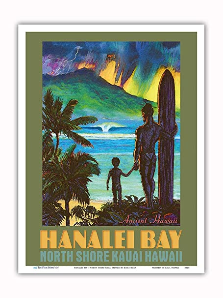 Pacifica Island Art Hanalei Bay-North Shore Kauai Hawaii ...