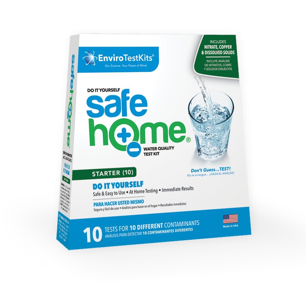 Safe Home STARTER-10 Water Quality Test Kit - (DIY Testing for 10 Different Contaminants)