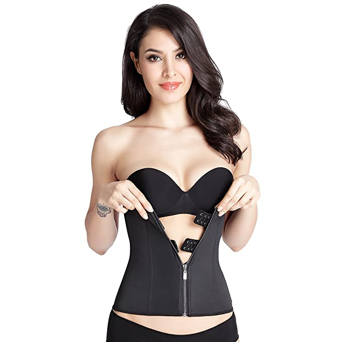 cd26655cfa Magideal X-Large Latex Waist Trainer Womens Underbust Corset Body Shapewear   Amazon.in  Clothing   Accessories