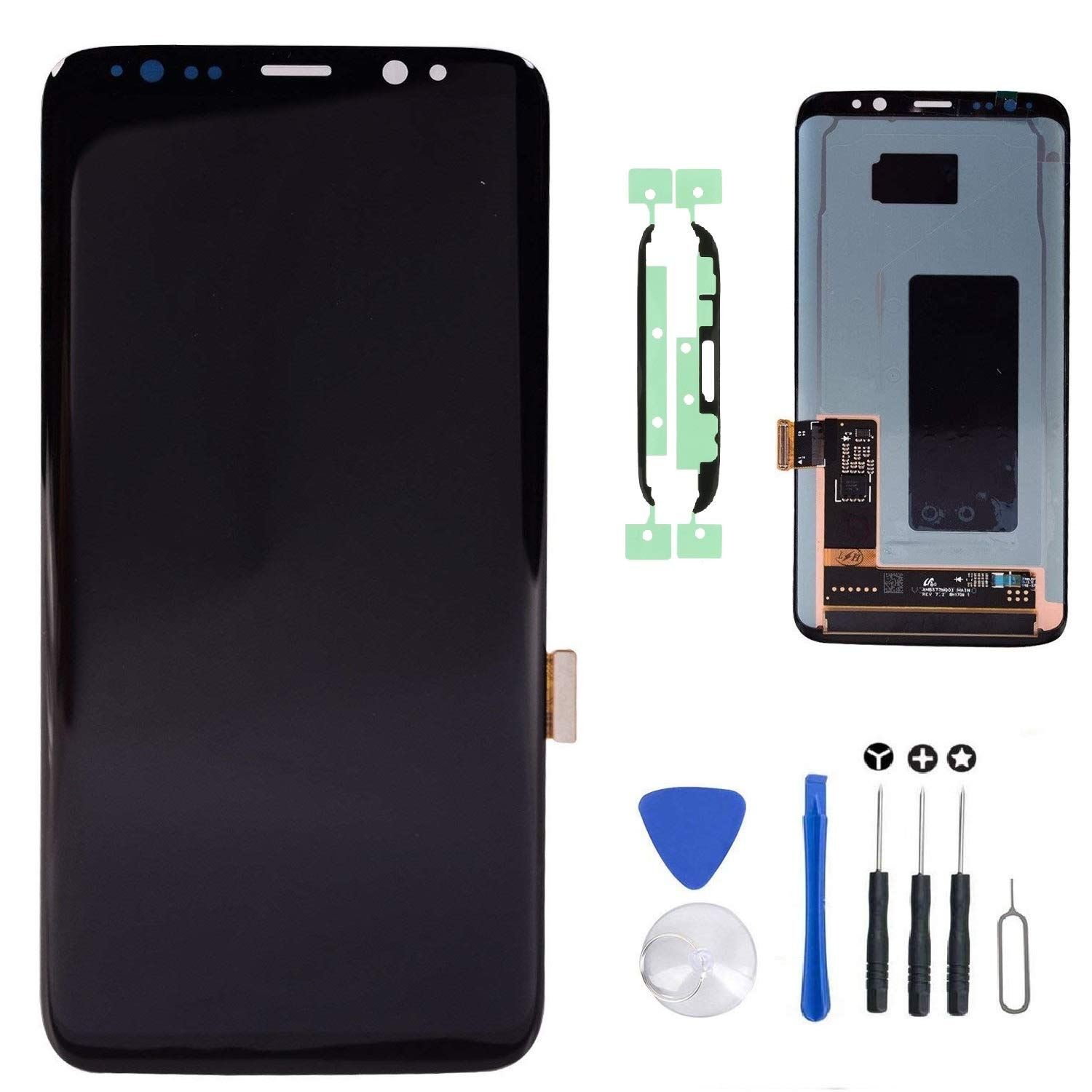 "LCD Display Touch Screen Digitizer Assembly Replacement with Tools for Samsung Galaxy S8 5.8"" G950F G950A G950P G950V G950T G950R4"