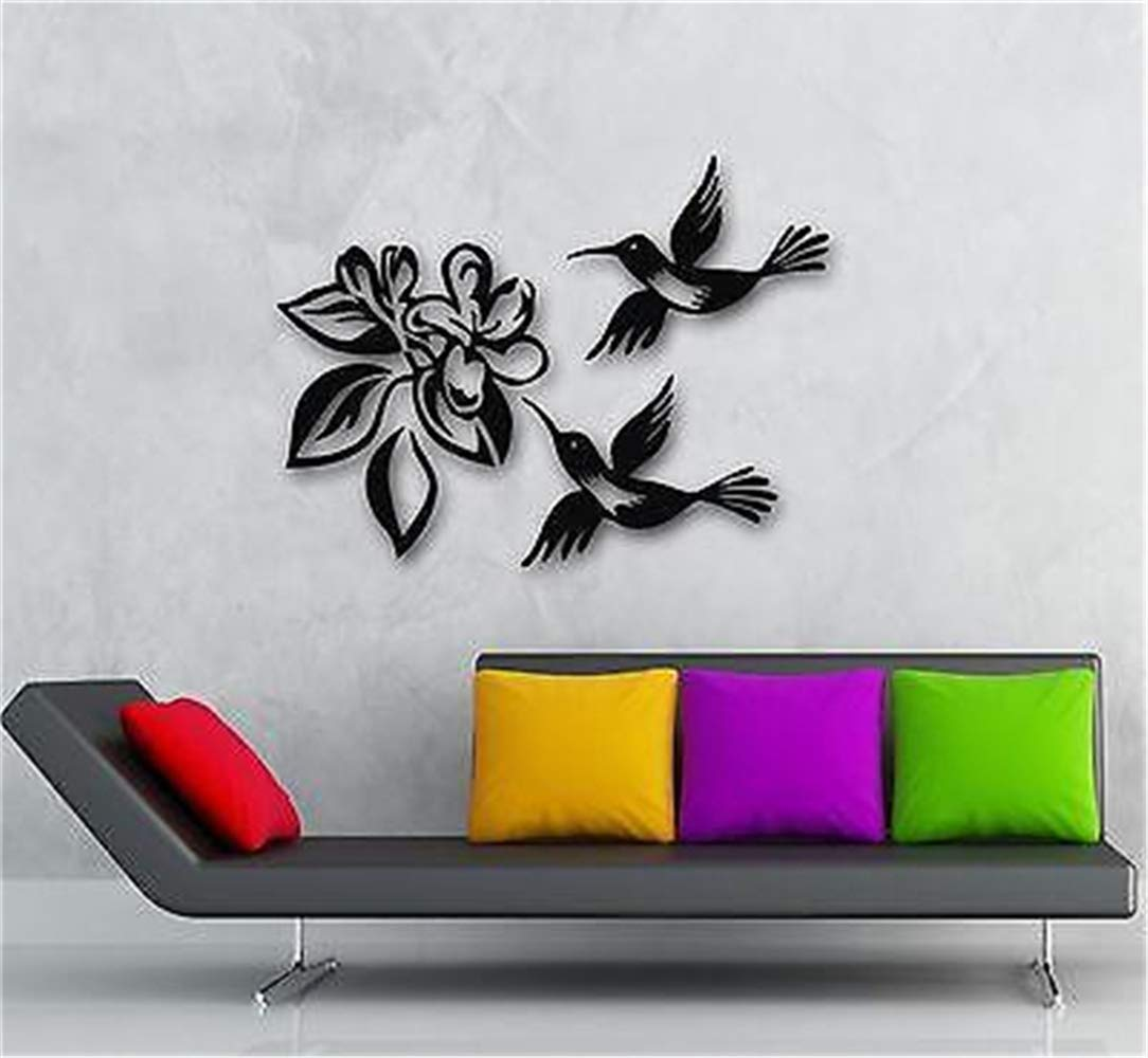 etiqueta de la pared decoración Colibrí Pájaro Flor Planta Grande ...