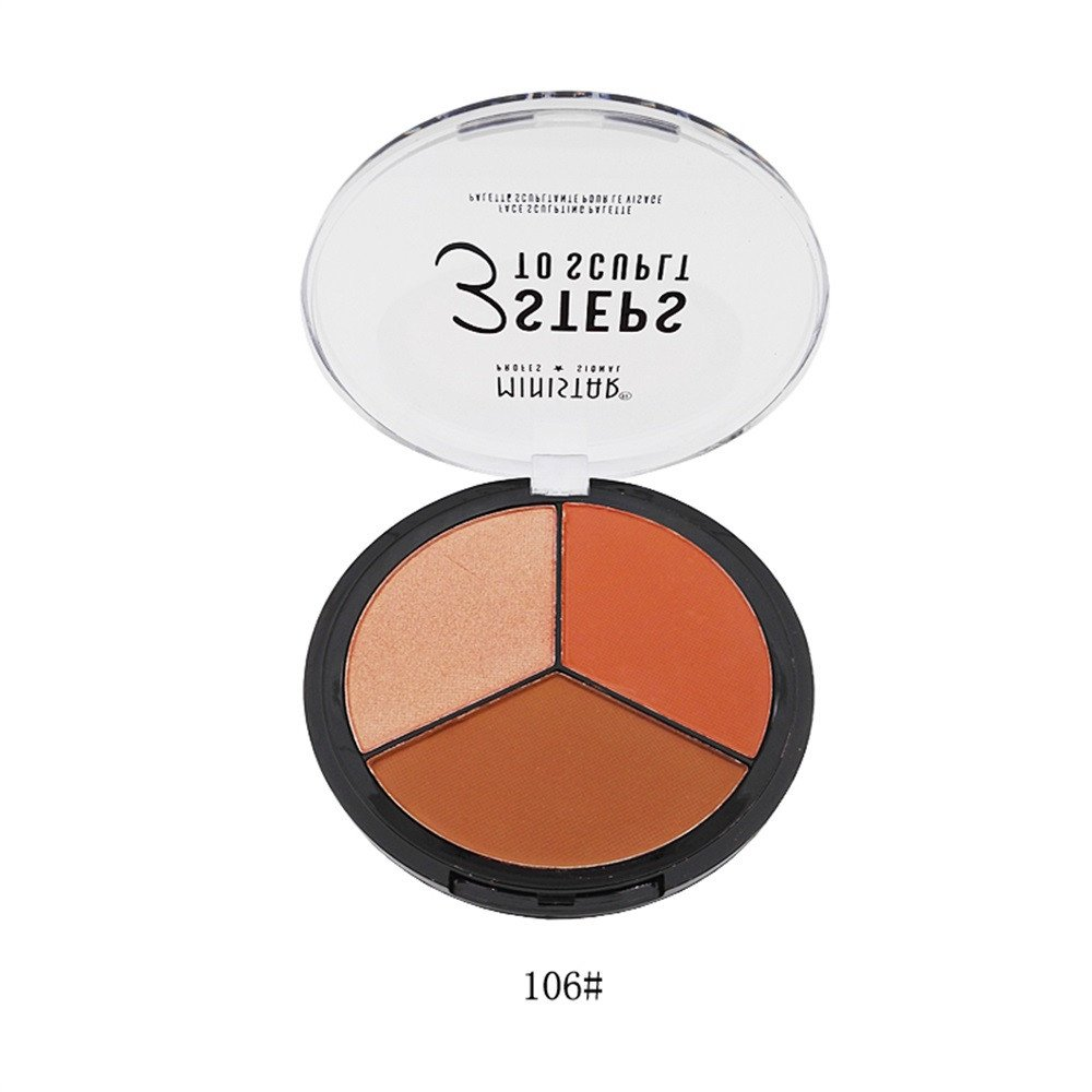 LEERYAAY Makeup Cosmetic 3 in 1 Makeup Cream Highlight Brightening Matte Blush Matte Repair