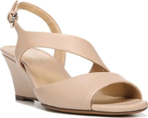 fb70fa4057be7 Naturalizer Women's Tonya Wedge Sandal,Tender Taupe Leather,US 8 W ...
