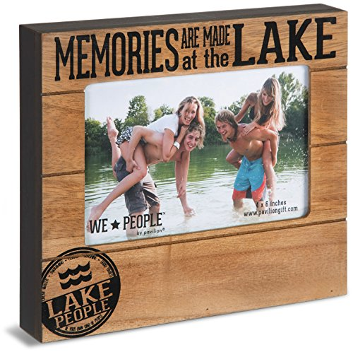 """Pavilion Gift Company 67065 Memories are Made at The Lake Photo Frame, 7-1/2 x 6-3/4"""""""