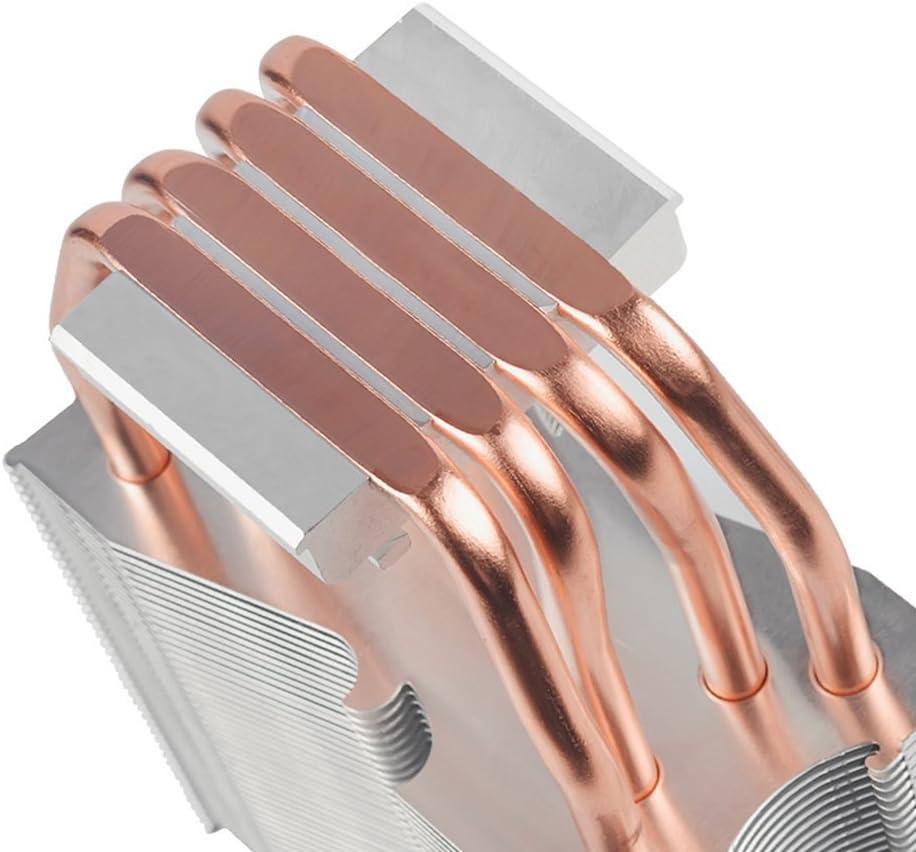 Quiet Desktop Computer CPU Radiator Pure Copper red elegantstunning 4 Heat Pipe Multi Platform Ultra