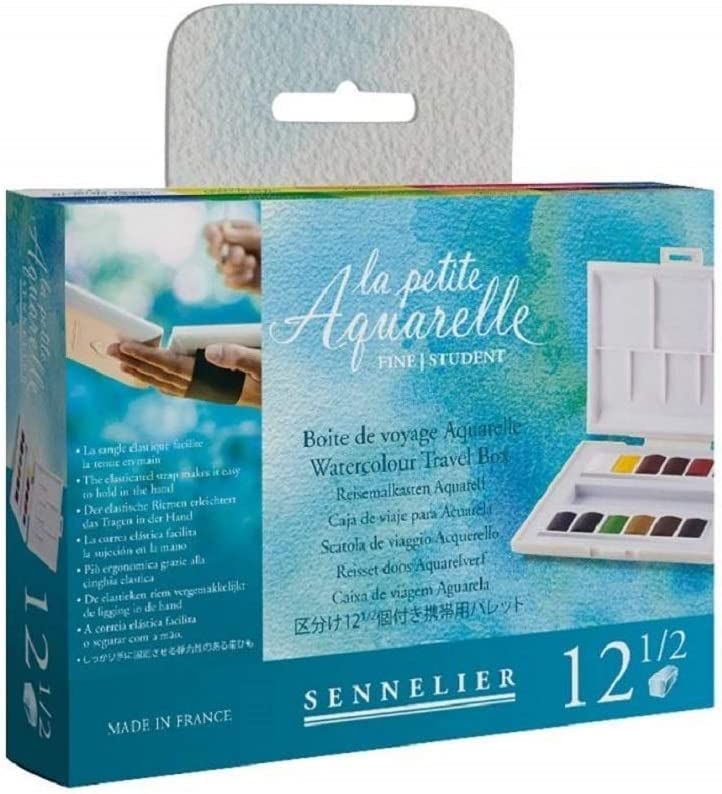 Caja de pintura de acuarela plástica Sennelier,MADE IN FRANCE: Amazon.es: Hogar