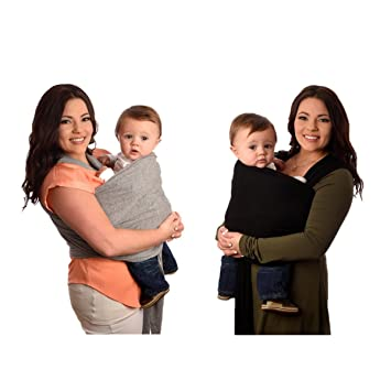 fb182f44b43 Baby Carrier Wrap - 100% Cotton Carrying Sling for Snuggling - Doubles as Nursing  Cover