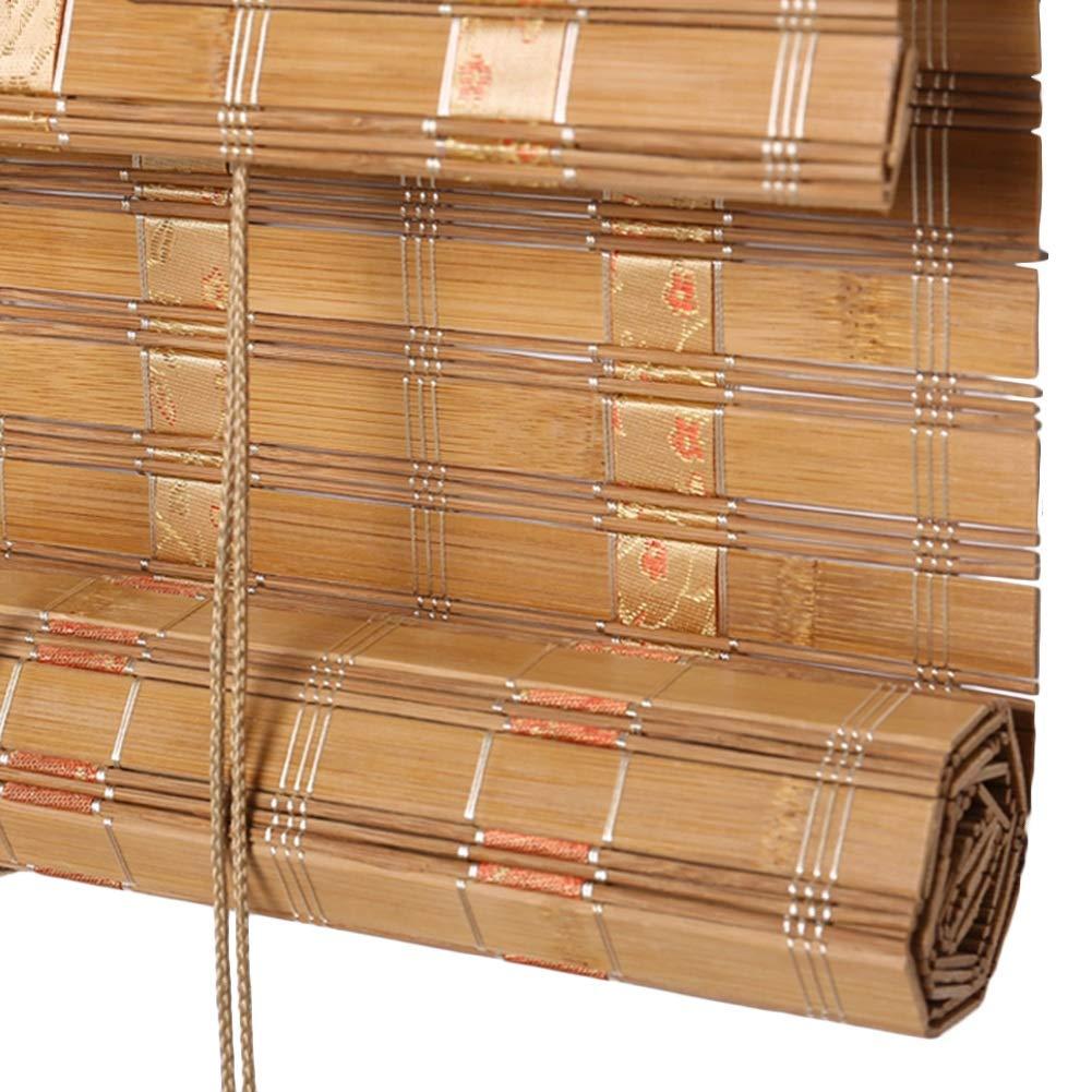 CAIJUN Tenda di bambù Dimensione Personalizzata Resistente all'Acqua Parasole Roll Up Tenda da Balcone Mobili Orientali, 2 Stili (colore   A, Dimensioni   100x160cm)