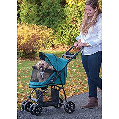Pet Gear Happy Trails Lite No-Zip Pet Stroller in Pine Green by Pet Gear