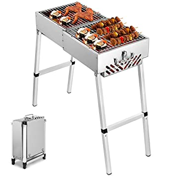 Amazon.com: ZJY BBQ Charcoal Grill, Can Be Folded into A ...