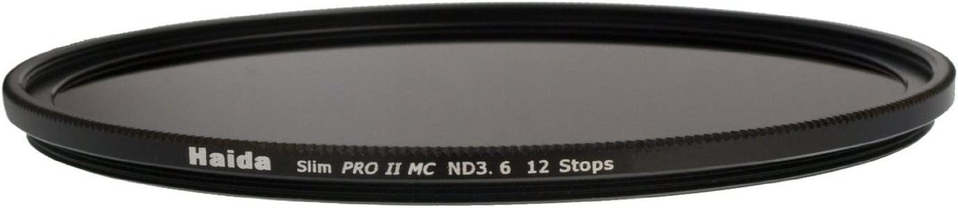 Haida PRO II Multi-Coated ND 3.6 4000X 12 Stops Optical Glass Neutral Density Filter 77mm