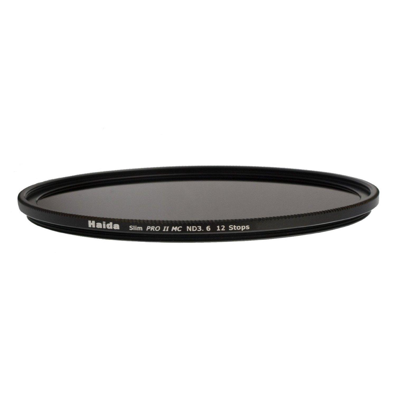 Haida PRO II Multi-Coated ND 3.6 4000X 12 Stops Optical Glass Neutral Density Filter, 58mm