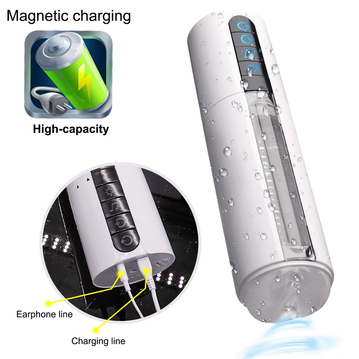 USB Rechargeable ??utomatical ssfucking White Rotating ?ircraft Enhancement Easy Clean High Tease Sièx Toys for Man Waterproof Exercise Bands Flexible MedicalGrade Silicone Summer Slipper