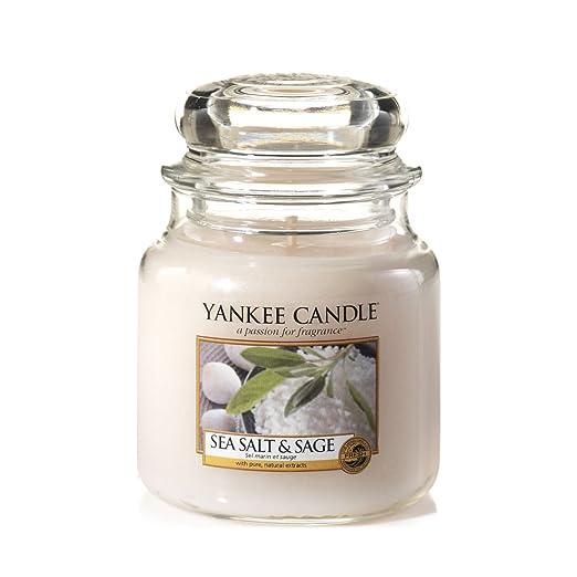 85 opinioni per Yankee candle 1507711E Sea Salt & Sage Candele in giara media, Vetro, Bianco,