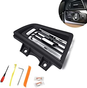 Chenyouwen Car Interior Accessories Great Car Plating Left Console Grill Dash AC Air Vent 642291668835 for BMW 5 Series, with Installation Tools