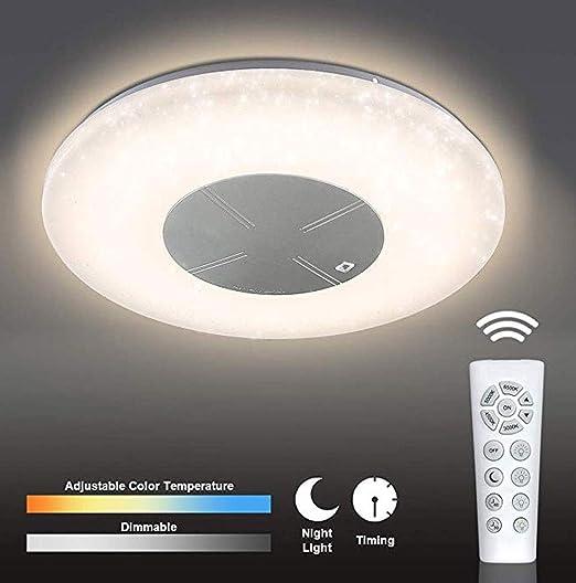 RGB DEL Plafonnier lampe chambre CCT Ciel étoilé Nuit lumière télécommande