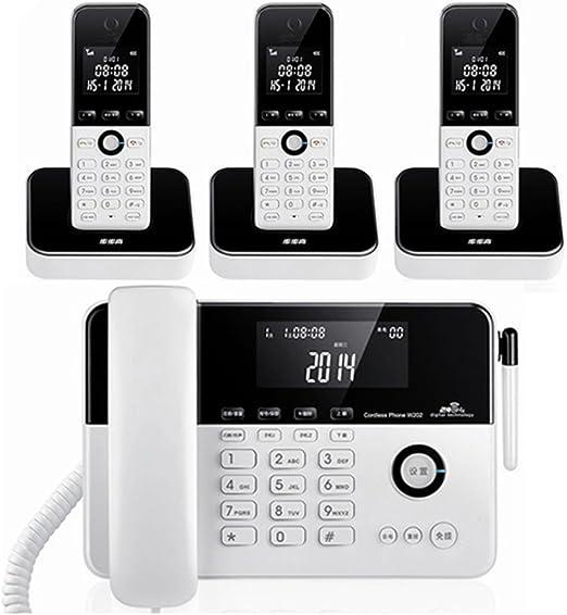 Cylficl Máquina de Base de Sub-máquina de teléfono inalámbrico Digital uno para Tres teléfonos fijos: Amazon.es: Hogar