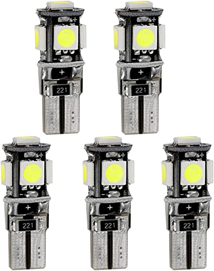 per New Santa Fe Super Luminoso Sorgente luci Interne a LED Lampada per Auto abitacolo Lampadine di Ricambio Bianca Confezione da 9
