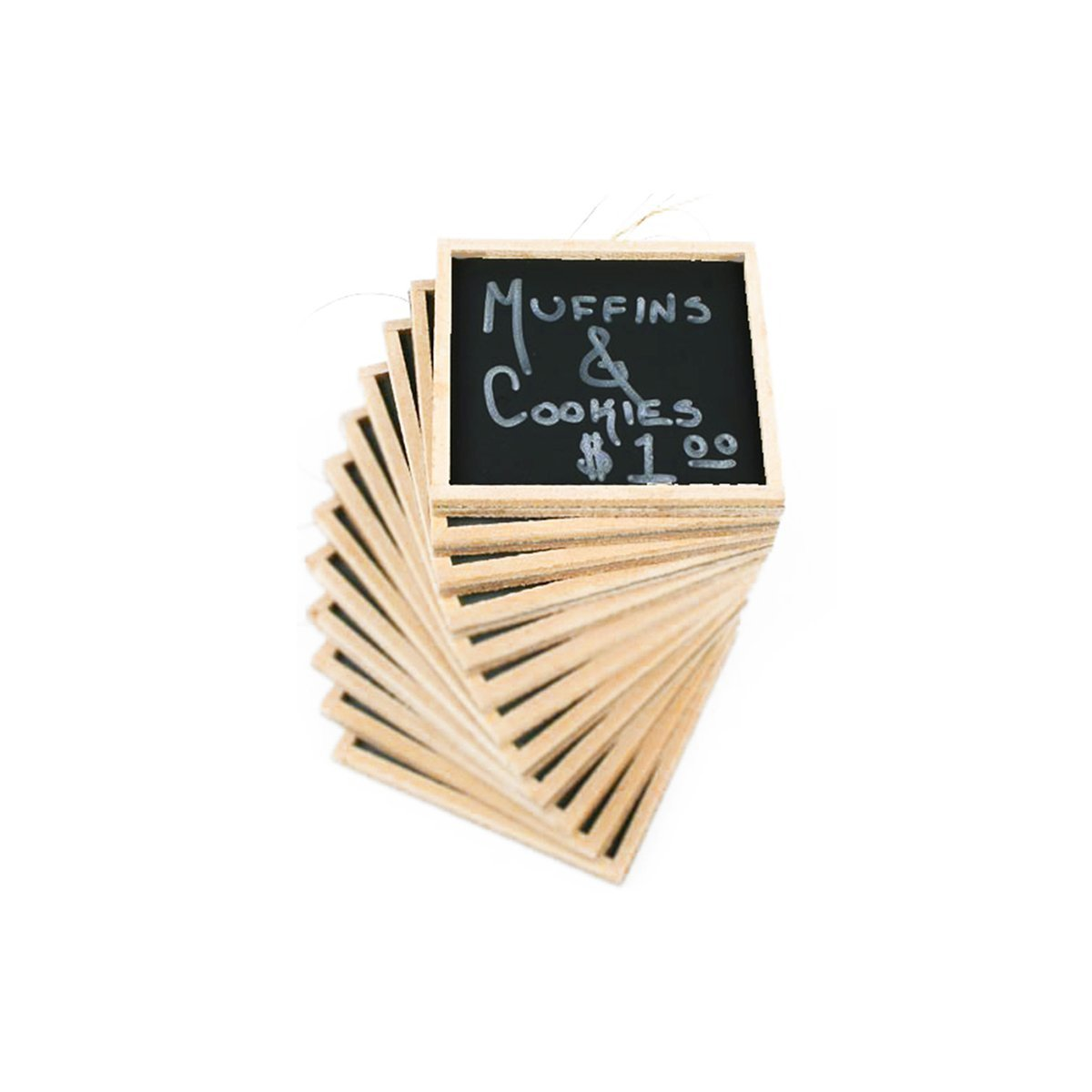 Adorox 24pcs Mini Small Chalkboards 3'' X 4'' Rustic Wedding Place Cards Party Favors & Crafts (24 Pieces)