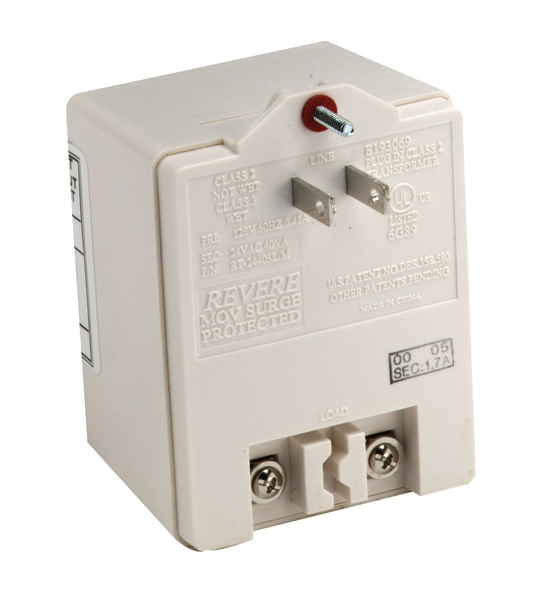 DynaLock 5313 5300 Series Plug-in Transformer, 120/12 VDC, 3 Amp