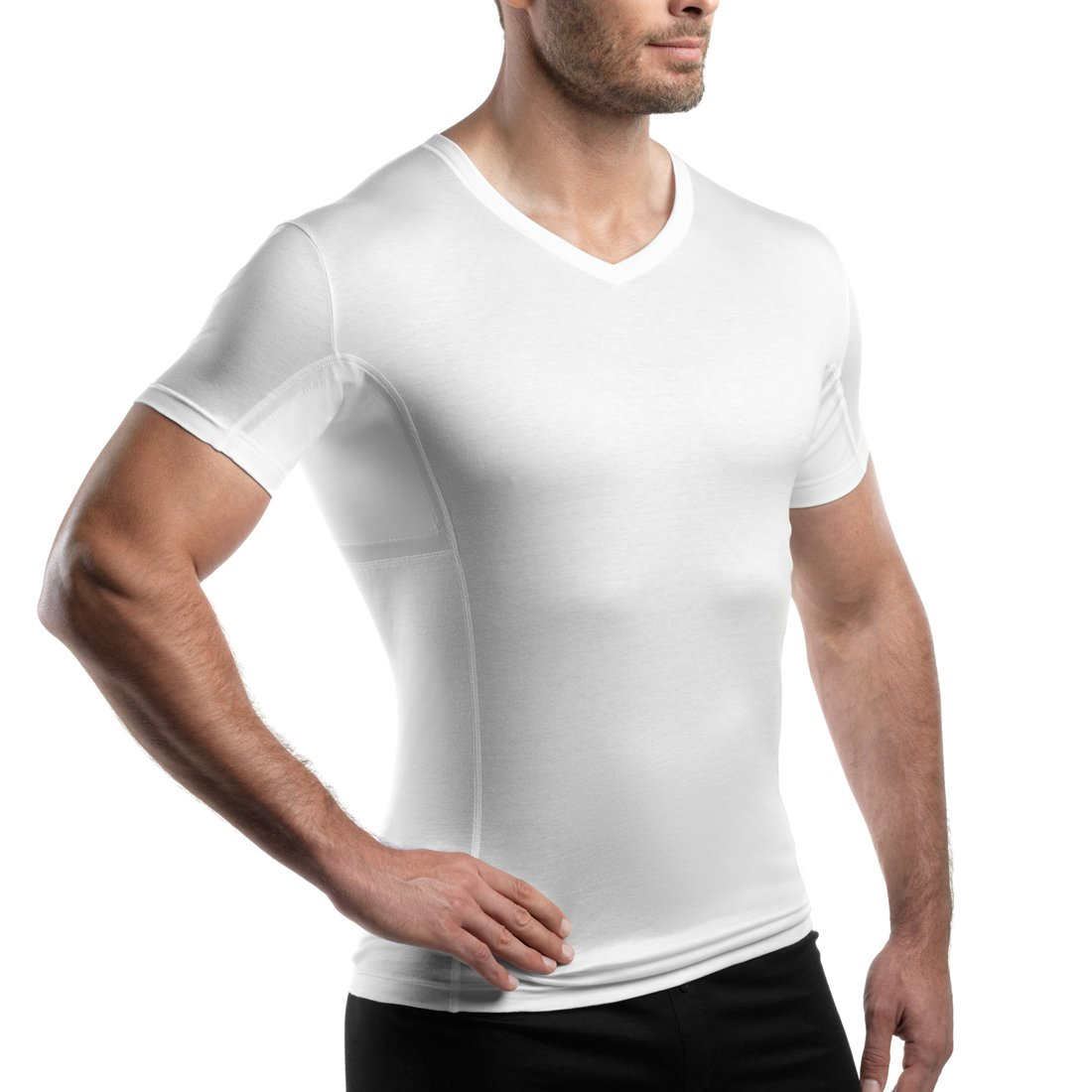 Amazon Laulas Sweat Stain Proof Undershirt With Sewn In Pocket