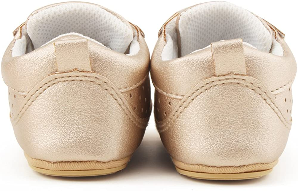 Delebao Baby Fashion Breathable Rubber Sole Crib Shoes Slippers Prewalker 3-24 Months