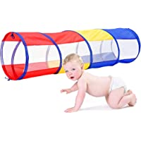 Multicolored Play Tunnel for Kids Crawl and Explore Tent, with See Through Mesh Sides, Promotes Healthy Fitness, Early…