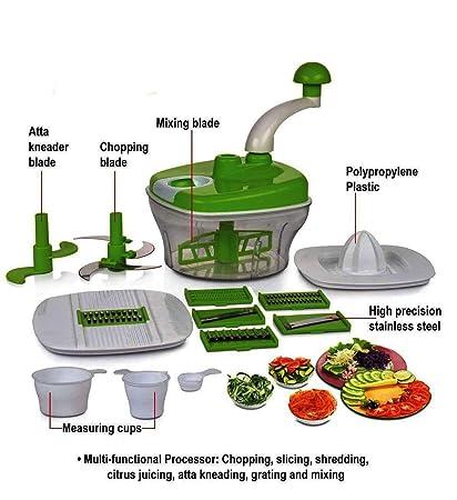 JD Brand Plastic Dough Maker, Vegetable Cutter, Slicer, Dicer, Atta Kneader Food Processer (Multicolour)