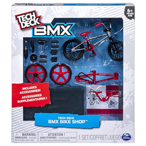 Tech Deck – BMX Bike Shop with Accessories and Storage Container – WeThePeople Bikes – Silver & Red by Tech Deck (Image #1)