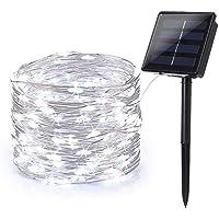 Guirnalda Luces Exterior Solar, BrizLabs 24m 240 LED Cadena de Luces 8 Modos Luces Led Solares Jardin Impermeable…