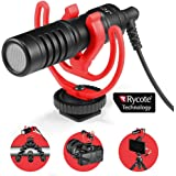 JOBY Wavo Mobile Compact On-Camera Microphone with Rycote Shock Mount, Deadcat Windscreen for Smartphone, CSC, Camcorder…
