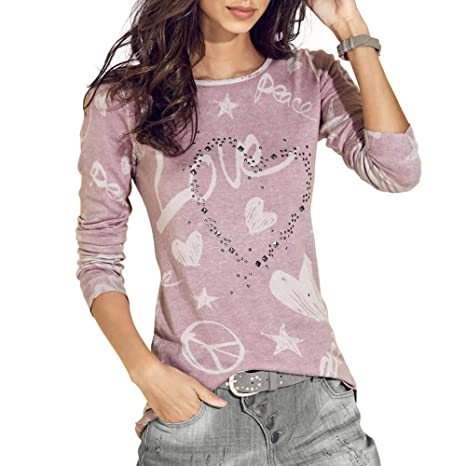 Amazon.com : Clearance!HOSOME Women Top Womens Autumn Womens Long Sleeve Letter Printed Shirt Casual Blouse Loose Cotton Tops T-Shirt : Grocery & Gourmet ...