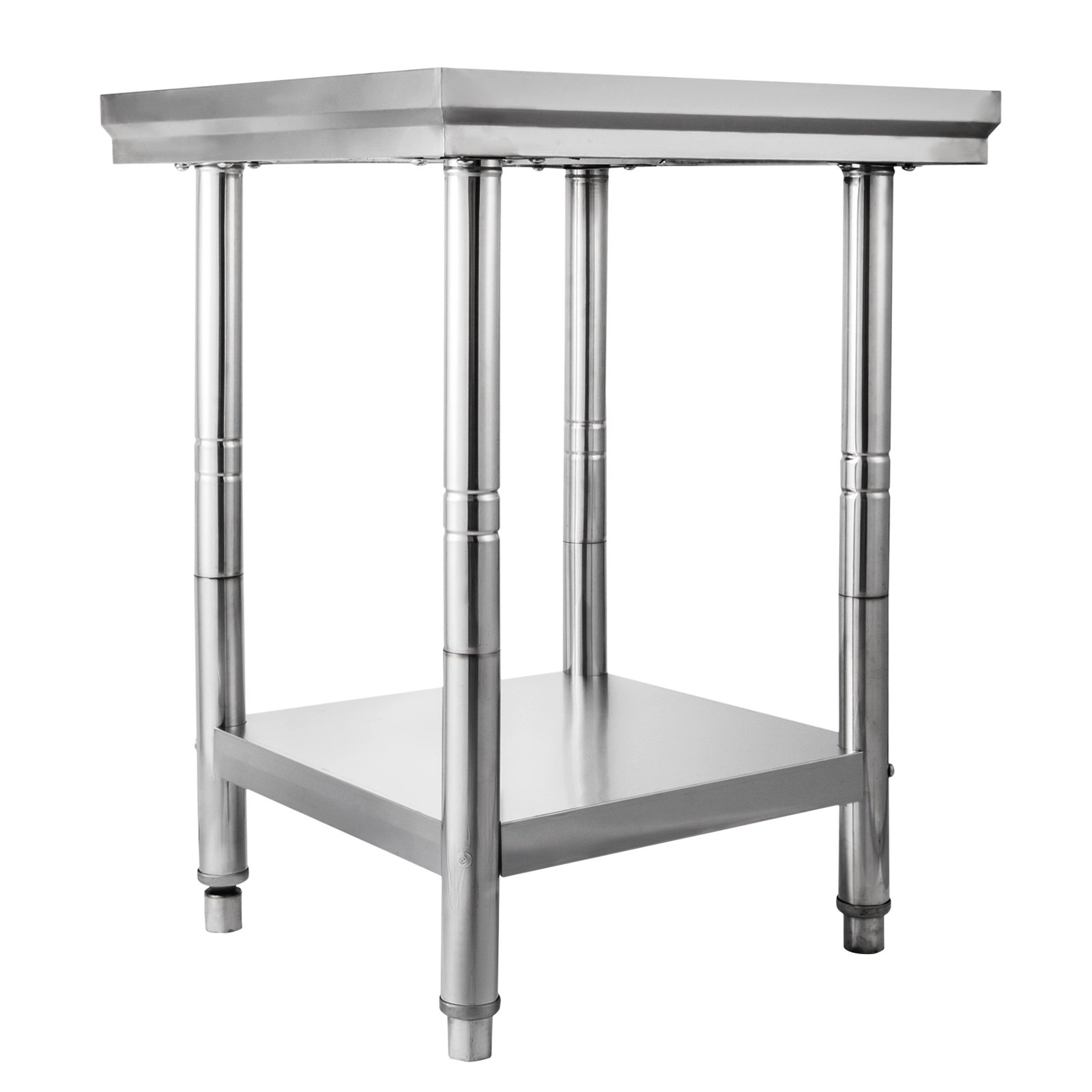 Onionfree 24 x 24 Inch Stainless Steel Commercial Workstation Kitchen Prep and Work Table for Kitchen Commercial Restaurant bar (24x24x31.5 inch)