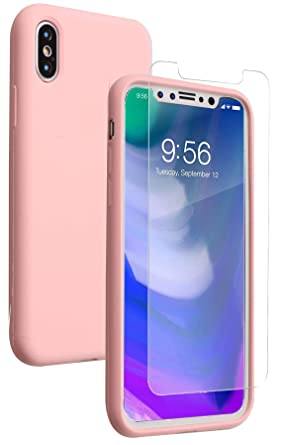 Amazon.com: iPhone X funda, líquido suave carcasa de ...