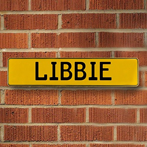Libbie Wall (Vintage Parts 686818 Wall Art (Yellow Stamped Aluminum Street Sign Mancave Libbie))
