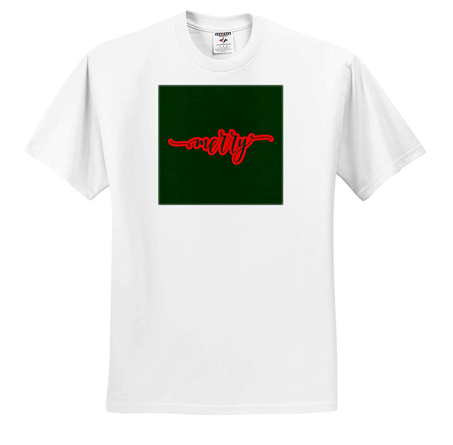 Cheerful and Merry 3dRose AmansMall Winter 3drsmm Merry Holidays and Typography T-Shirts Merry Christmas,Be Merry