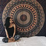 exclusive wall hanging wall art mandala Hippie Elephant Tapestries, Large Size Tapestry Wall Hanging, Mandala Tapestries, Bohemian Tapestries, Wall Tapestries, Dorm Decor, Queen Bed Cover Bedding