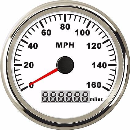 Amazon com: 85mm Digital GPS LCD Speedometer 0-160MPH Gauge