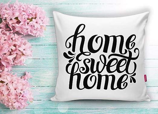 JV Home Throw Fundas de Almohada Home Sweet Home Funda de ...
