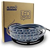 ALITOVE 16.4ft WS2812B Individually Addressable LED Strip Light 5050 RGB SMD 150 Pixels Dream Color Waterproof IP66 Black PCB 5V DC
