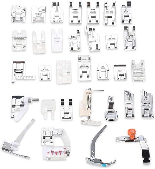 32 piezas de prensatelas para máquina de coser doméstica ...