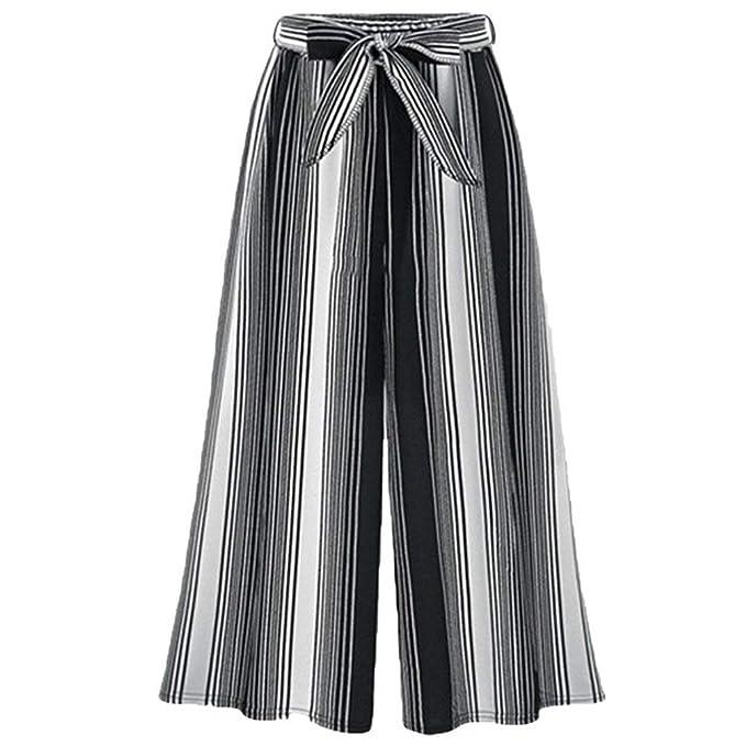 Mujer Pantalones Baggy Vintage Moda Flecos Pantalones Falda Elegantes Cintura Alta Anchas Aireado Basic Ropa Cómodo Pantalones Palazzo Pantalones Verano ...