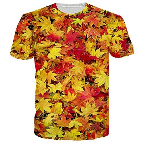 RAISEVERN Women's Marihuana Leaf Printed Summer Graphic T-shirts Tees - Leaf Marihuana