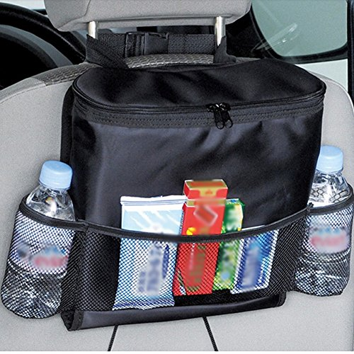 (Auto Car Seat Back Organizer Bottle Drinks Holder Food Storage Container Multi- Pockets Travel Storage Bag Car Seat Organizer)