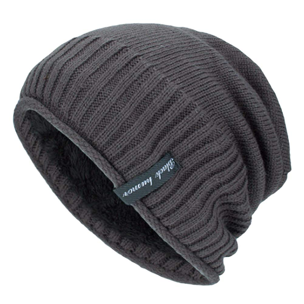 e04bc96a YSense Mens Winter Warm Slouchy Beanie Oversized Baggy Hat Fleece Lined Knit  Skull Cap at Amazon Men's Clothing store: